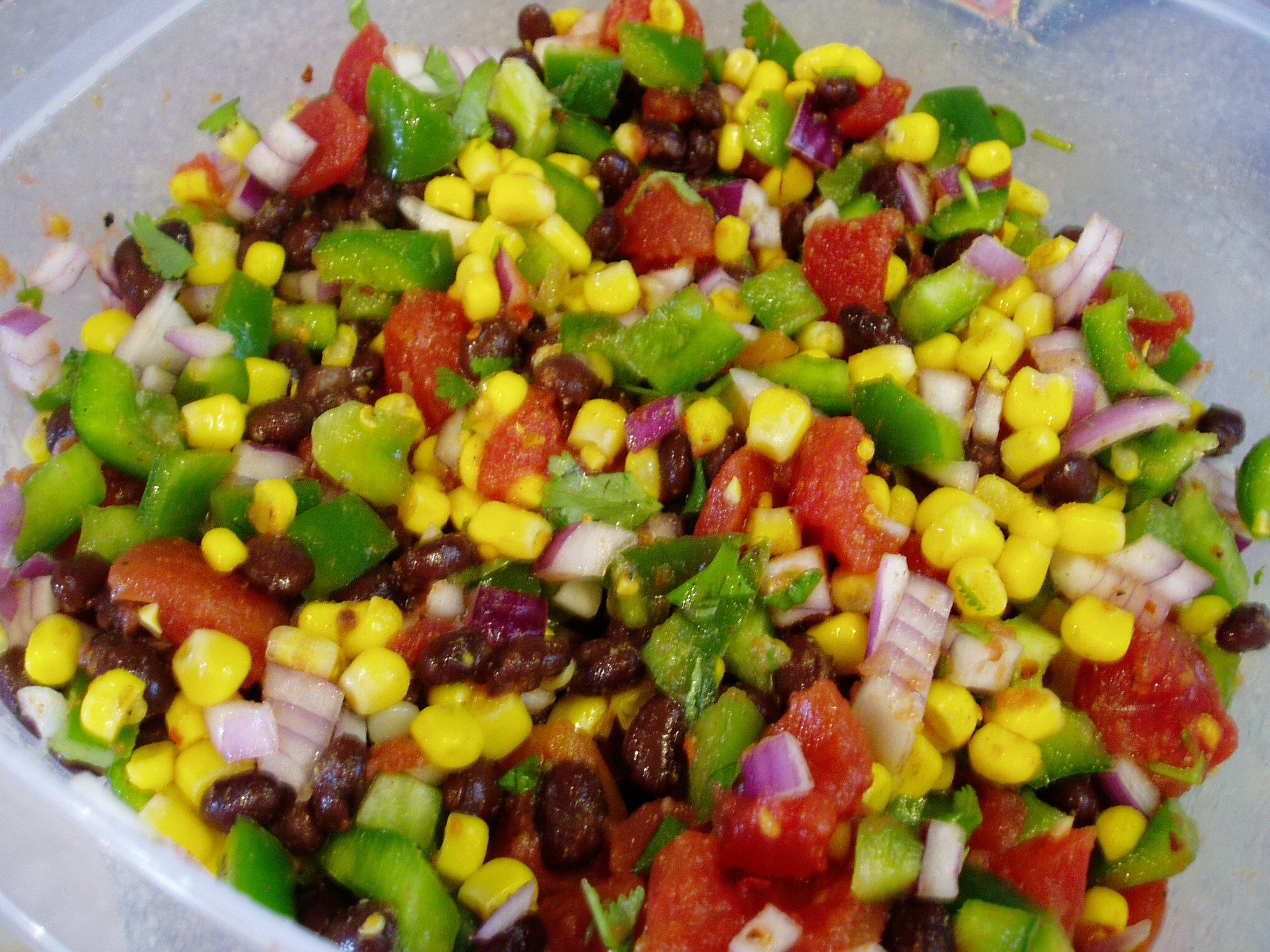 Black Bean Salad Black Bean And Veggie Salad